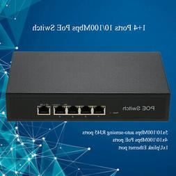 1+4 Ports 10/100Mbps Poe Switch Injector Power Over Ethernet