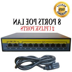 8 port poe ethernet switch for ip