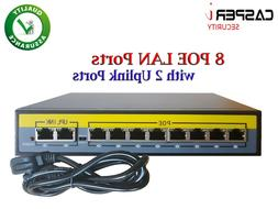 8ch poe ethernet network switch ieee802 3af