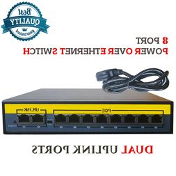 8ch port poe power over ethernet network
