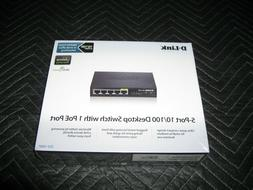 D-Link DES-1005P 5-Ports 10/100 Ethernet Network Switch with