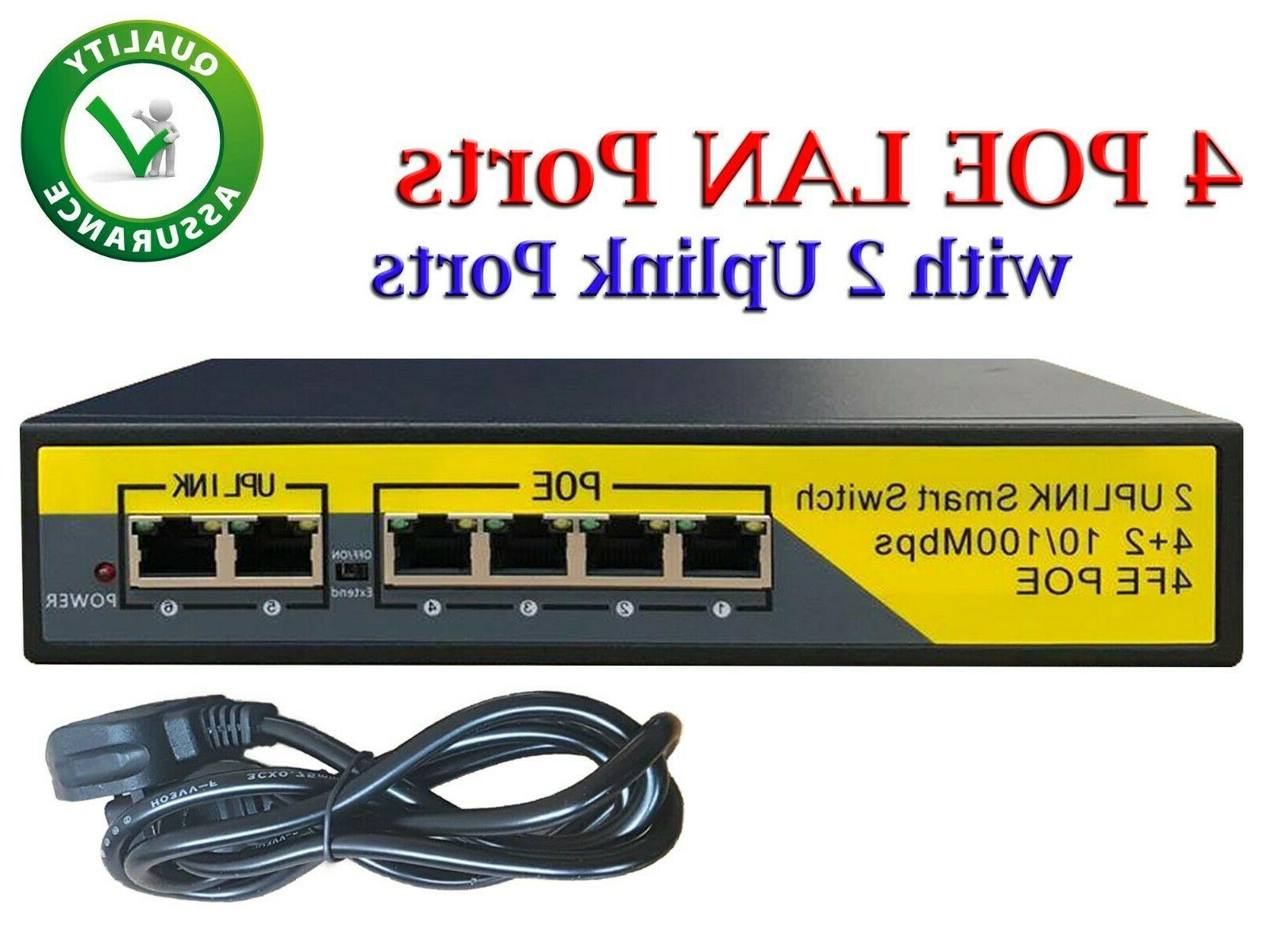 4x port poe power over ethernet switch